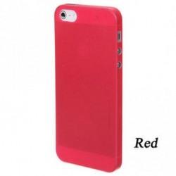 piros - Soft Phone Protector Tiszta hátsó tok Hard Skin Cover Matte az Iphone 5-hez