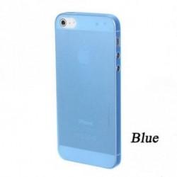 kék - Soft Phone Protector Tiszta hátsó tok Hard Skin Cover Matte az Iphone 5-hez