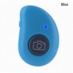 Kék - Selfie Stick Selfie exponáló gomb Bluetooth zárkioldó távvezérlő