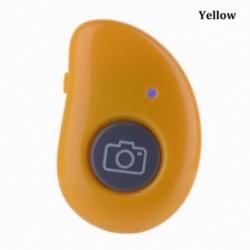 Sárga - Selfie Stick Selfie exponáló gomb Bluetooth zárkioldó távvezérlő