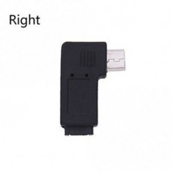 Jobb - Adapter bal és jobb USB Micro-B Male to Dugaszoló konverter 90 fokos szög