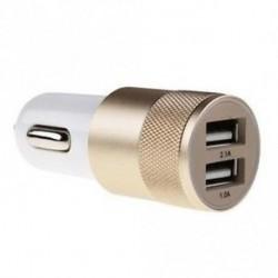 Arany - Bullet autós töltő 2 portos kettős USB 2.1a / 1.0a adapter az Iphone 5 6 számára Samsung