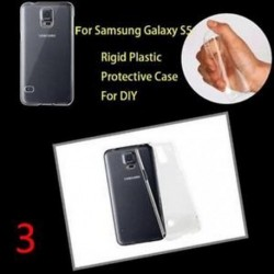 3 - Telefon hátlap burkolat Clear Crystal áttetsző kemény műanyag Samsung modellekhez