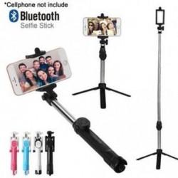 Kézi állvány Selfie Stick Bluetooth zár távvezérlő kamera bővíthető