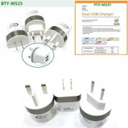 DC 5V / 2.4a Dual USB töltő intelligens gyors töltés Adapter 100-240V EU / USA / UK Plug 1db
