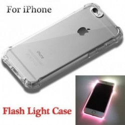 iPhone 7 - Clear Incoming Call LED villanófény tok iPhone 5 / 5s / SE 6 / 6s 7/7 Plus-hoz