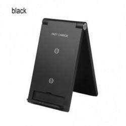 fekete - Szerelje fel a lehajtható telefonállvány gyors töltőállomását a Samsung S8 9 IPhone X 8 készülékhez