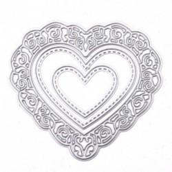 Aranyos csinos szerelem szív Valentin Scrapbook album papír kártya Decor Kreatív alkotás művészet