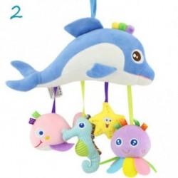 2 - Baby Toys Infant Stroller Lógó játék Cot Crib Mobile Csörgők delfinek Plüss Játékok