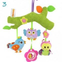 3 - Baby Toys Infant Stroller Lógó játék Cot Crib Mobile Csörgők delfinek Plüss Játékok