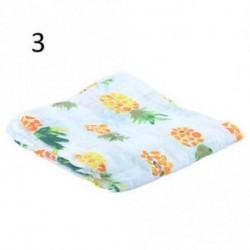 3 - Baba maszti aranyos muszlin takarót Baba Multi-felhasználású bambusz takaró csecsemő wrap