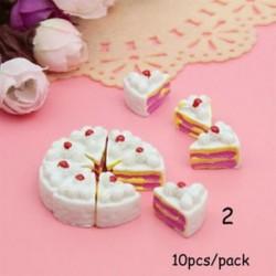 2 - 10db Kawaii lapos hátsó DIY miniatűr mesterséges cukrászda Craft Doll House Toy
