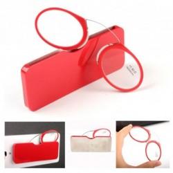 1x piros keretes olvasószemüveg tokkal több dioptriában