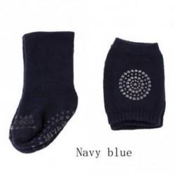 Méret MďĽ? Navy blueïĽ ‰ - 1 Set Bébi Zokni Térd Pad Divat Puha Tipegő Anti Slip Zokni Térdvédő