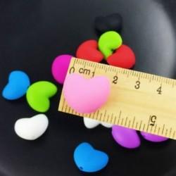 10 db Biztonsági BPA-Free Szilikon Baby Teether DIY nyaklánc karkötő Heart Beads