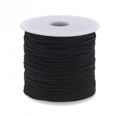 1x 100M Fekete elasztikus Gyöngy fonal szál zsinór damil DIY nyaklánc karkötő ékszer kiegészítők 1mm