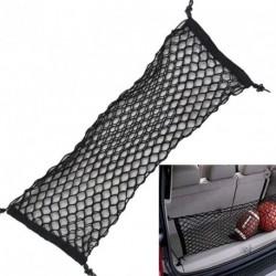 1db Nylon autó csomagtartó Hátsó ülés Szervező Fekete Tárolás rugalmas háló