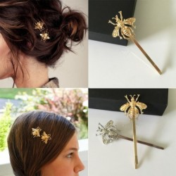 2db Nők Lányok Finom arany Bee Hairpin Side Clip Hair kiegészítők Ajándék