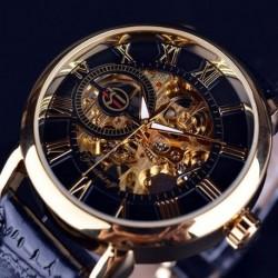 1x Férfi arany / ezüst színű koponya Rozsdamentes acél Mechanikus óra karóra