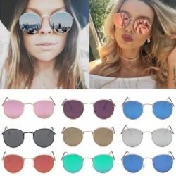1x Új divatos napszemüveg Női fém keretes szemüveg kerek napszemüveg