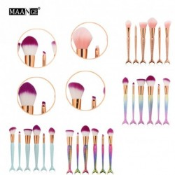 6db MAANGE Professzionális púder alapozó szemhéjárnyaló ajak kozmetikai kefe smink ecsetkészlet