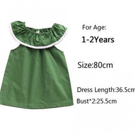 b781920f4b Aranyos Baba Zöld Csipke Nyakörv ruha lány ujjatlan rózsás nyakú hercegnő  ruhák