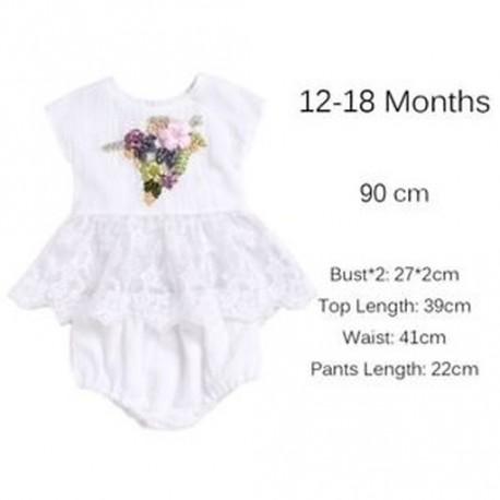 bf25affd32 12-18 hónap - 0-2 éves lányok felső ruha & nadrág szoknya ruha flitter virág  szalag hímzés