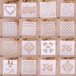 1x Divatos nyomtatás rajz Festmény Stencil DIY Craft Scrapbook Album dekoráció