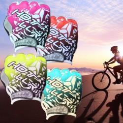 1x Kerékpáros kerékpáros gél fél ujjas kesztyű Rövid ujjú sport kesztyű