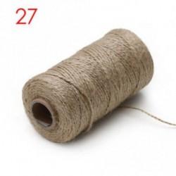 27 Természetes kender kötél - 100meters / roll Bakers Twine String pamut zsinórok Kötélvágó Dies otthoni dekoráció
