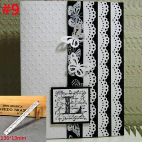 9 - Dekoráció Scrapbooking Domborító Csipke Vágólapok Kártyák Edge Decor Stencil