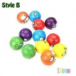 B stílus - 12db / lotto játék Emoji Face Expression Squeeze golyók Kézi csukló gyakorlása