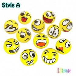 A stílus - 12db / lot Rajzfilm Emoji arcexpresszió Squeeze Ball lágy anti-stressz játék ÚJ