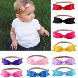 Aranyos újszülött csecsemő kisgyermek gyerekek Bow főszálas hajszalag headwear Photo Props