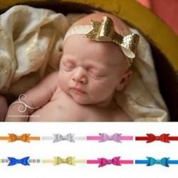 Baba lány Shiny Sequined Hair Band Bowknot fejpánt