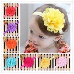 Head Wrap kisgyermek Virágpántos Baby Hairband Turban Tiara