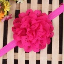 Rózsavörös - Head Wrap kisgyermek Virágpántos Baby Hairband Turban Tiara