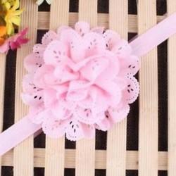 Rózsaszín - Head Wrap kisgyermek Virágpántos Baby Hairband Turban Tiara