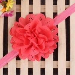 Piros - Head Wrap kisgyermek Virágpántos Baby Hairband Turban Tiara