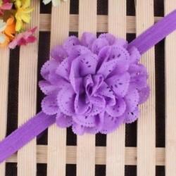 Lila - Head Wrap kisgyermek Virágpántos Baby Hairband Turban Tiara