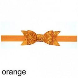 narancs - Baba lány Shiny Sequined Hair Band Bowknot fejpánt