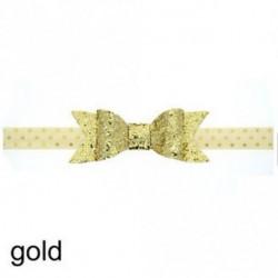 Arany - Baba lány Shiny Sequined Hair Band Bowknot fejpánt