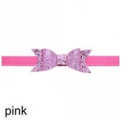rózsaszín - Baba lány Shiny Sequined Hair Band Bowknot fejpánt