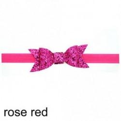 rózsavörös - Baba lány Shiny Sequined Hair Band Bowknot fejpánt