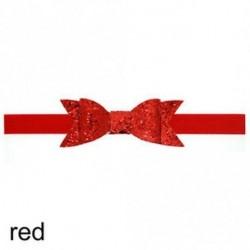 piros - Baba lány Shiny Sequined Hair Band Bowknot fejpánt