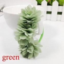 Zöld - Baba Haj tartozékok Barrettes Gumi Sávok Sifon virágok Fejfedők
