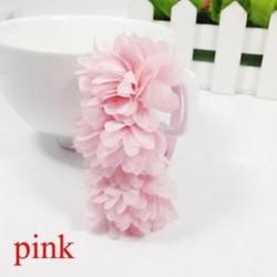 Rózsaszín - Baba Haj tartozékok Barrettes Gumi Sávok Sifon virágok Fejfedők