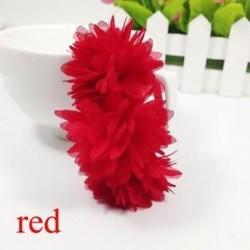 Piros - Baba Haj tartozékok Barrettes Gumi Sávok Sifon virágok Fejfedők