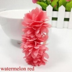 Görögdinnye piros - Baba Haj tartozékok Barrettes Gumi Sávok Sifon virágok Fejfedők