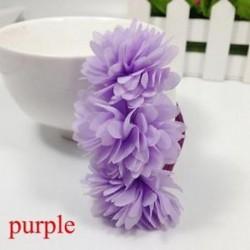 Lila - Baba Haj tartozékok Barrettes Gumi Sávok Sifon virágok Fejfedők